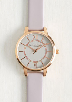 Head of the Classic Watch in Lilac & Silver