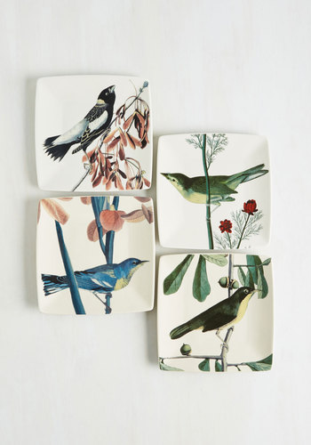 Bow and Sparrow Plate Set