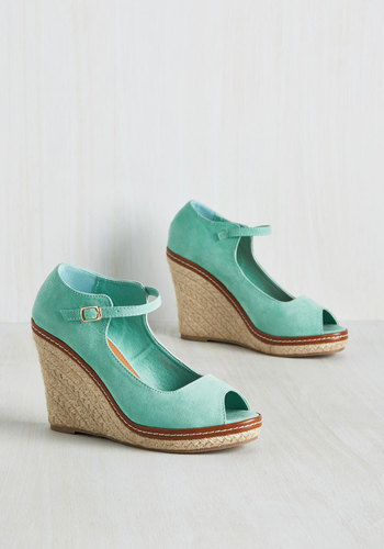 You Know the Espadrille Wedge in Mint