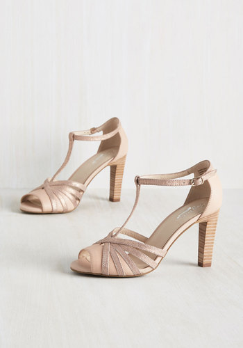 1930s Style Shoes Lap Heel in Rose Gold $99.99 AT vintagedancer.com