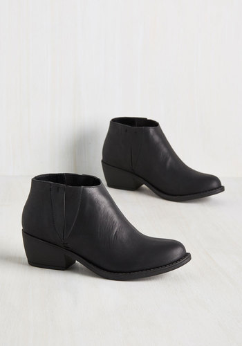 The Quest Is Yet to Come Bootie in Black