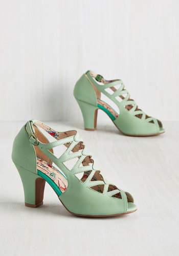 1930sStyleShoes Get in the Lattice Word Heel $164.99 AT vintagedancer.com
