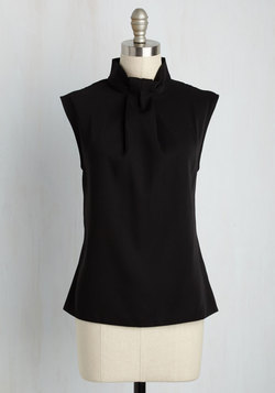 Sleek Supervisor Top in Black