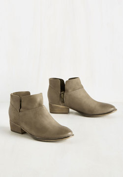 Snare Suede Bootie in Stone