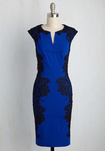 Lakeside Libations Dress in Sapphire