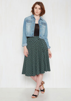 Easy Peasy, Livin' Breezy Midi Skirt in Hearts