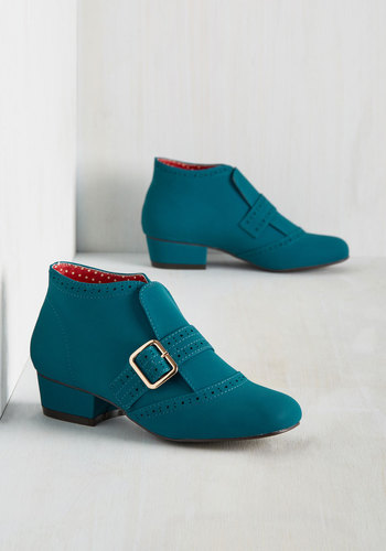 Retro & Vintage Style Shoes Showcase Your Strut Bootie $82.99 AT vintagedancer.com