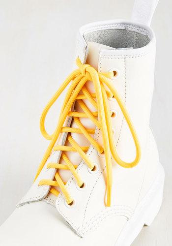 All Round the World Shoelaces Lemon