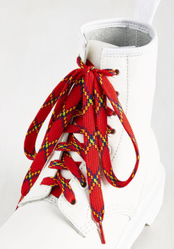 London Crawling Shoelaces in Red
