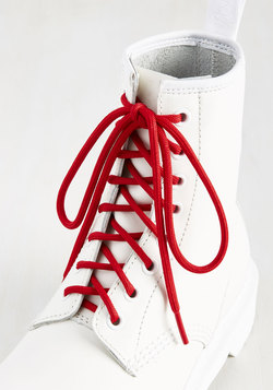 All Round the World Shoelaces in Cherry
