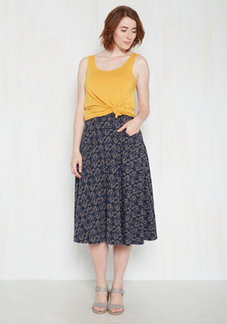 Next on Deck Midi Skirt in Bicycles