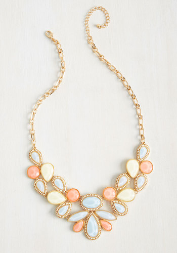 Shine-Tuned Necklace in Multi - Multi, Special Occasion, Cocktail, Girls Night Out, Bridesmaid, Bride, Statement, Pastel, Spring, Summer, Better, Metal, Plastic