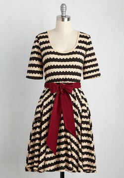 Exhibition Marks the Spot Dress in Stripes