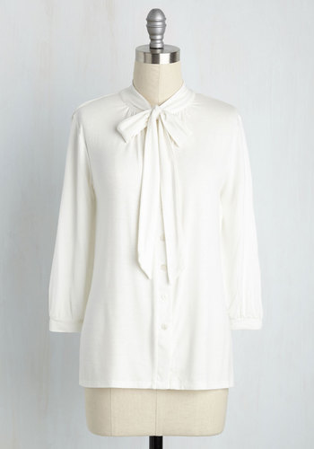 1920sStyleBlouses Cross Your Universities Top in Ivory $39.99 AT vintagedancer.com