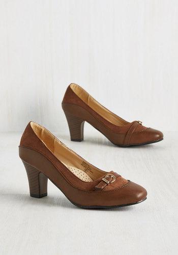 Start on a Keynote Heel in Brown $44.99 AT vintagedancer.com
