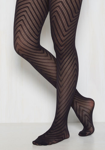 Fashionably Emulate Tights in Navy - Blue, Solid, Chevron, Crochet, Fall, Winter, Good, Work