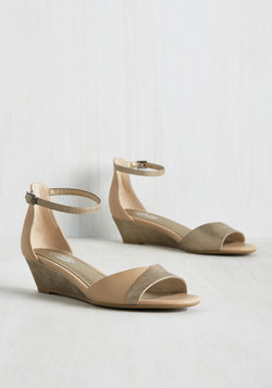 Coalition Leather Wedge in Taupe