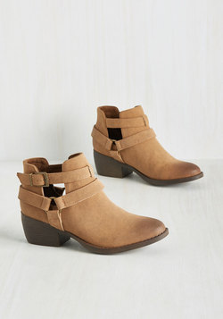 Skip a Beat Bootie in Tan
