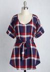 Medium Format Memory Tunic in Americana Plaid