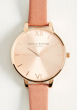 Classic Company Watch in Mauve & Rose Gold - Big