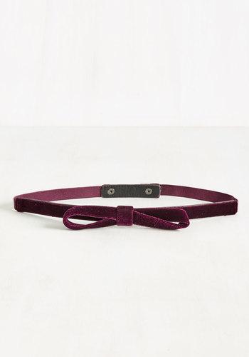 Velvet Vitality Belt in Merlot