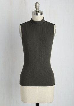 Panache With Care Tank Top in Charcoal