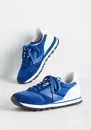 Retro sneakers Glam on the Run Sneaker in Cobalt $79.99 AT vintagedancer.com