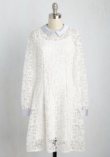 Collar ID Dress in Ivory $150.00 AT vintagedancer.com