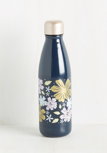 I Drink, Therefore I Am Travel Bottle in Blooms