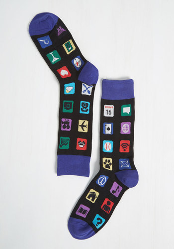 If You're Appy and You Know It Men's Socks