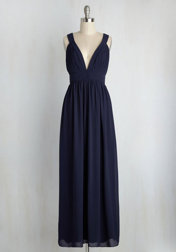 Glamour Out the Details Maxi Dress in Midnight