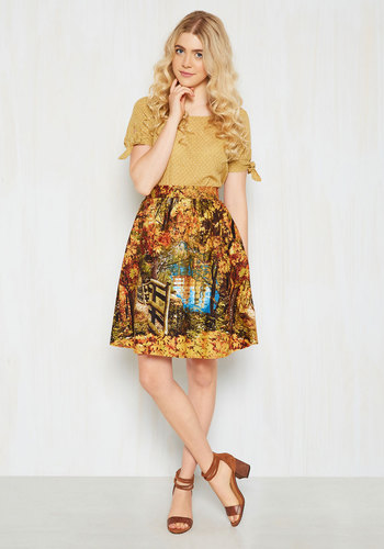 cheer uplifting a line skirt in parks mod retro vintage