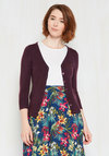 Charter School Cardigan in Plum