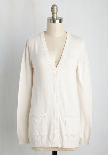 1920sStyleBlouses Have a Good Knit Cardigan in Oatmeal $49.99 AT vintagedancer.com
