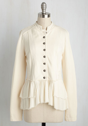 SteampunkClothing Office-ticated Appeal Jacket in Ivory $69.99 AT vintagedancer.com