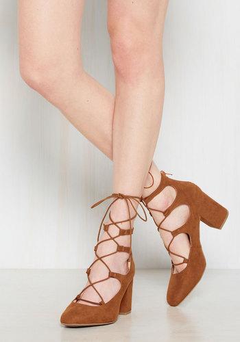 Shop Pin Up Shoes Power Couple Heel in Caramel $34.99 AT vintagedancer.com