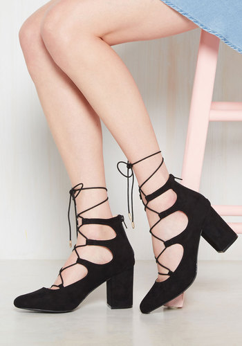 Shop Pin Up Shoes Power Couple Heel in Black $34.99 AT vintagedancer.com