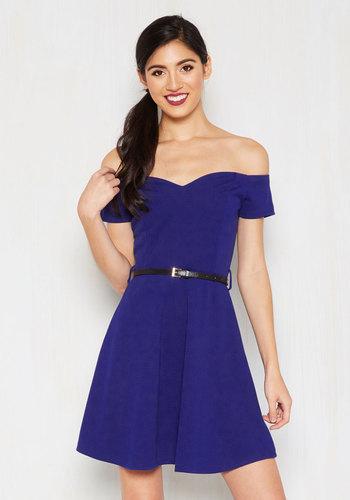 It's Bright Alright Dress in Sapphire