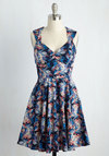 Flare Maiden Floral Dress in Bloom