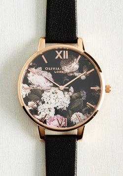Half Past Bloom Watch in Rose Gold