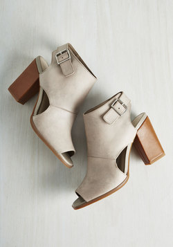 Battery Leather Heel in Stone