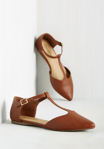 1920s Style Shoes Sleek Around the Clock Flat $34.99 AT vintagedancer.com