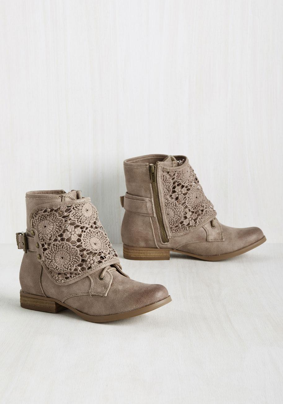 Kitten Heel Brown Boots