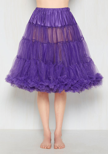 Vintage Inspired Lingerie Va Va Voluminous Petticoat in Purple - Long $59.99 AT vintagedancer.com