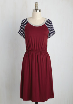 Campus Champion Dress in Burgundy