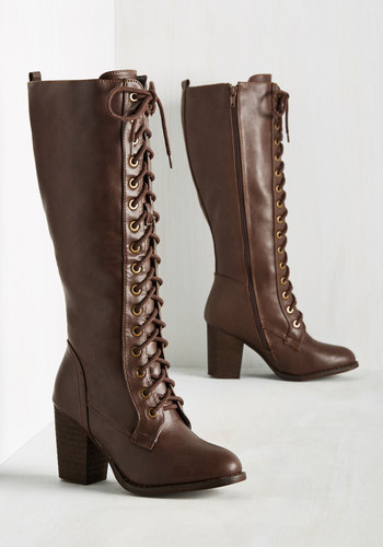 Victorian Boots & Shoes Picking Up Steampunk Boot in Mahogany $64.99 AT vintagedancer.com