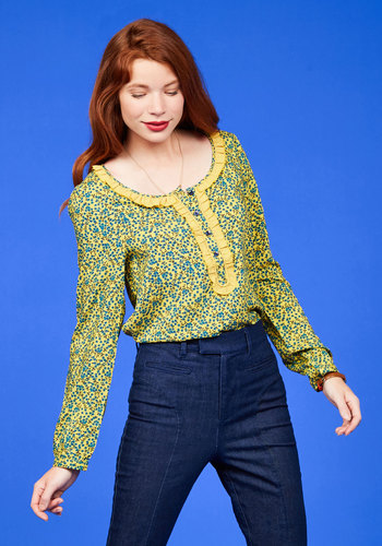 And, Coffee Break! Floral Top