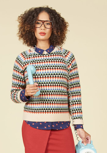 1920sStyleBlouses Like Father Like Fun Sweater $79.99 AT vintagedancer.com
