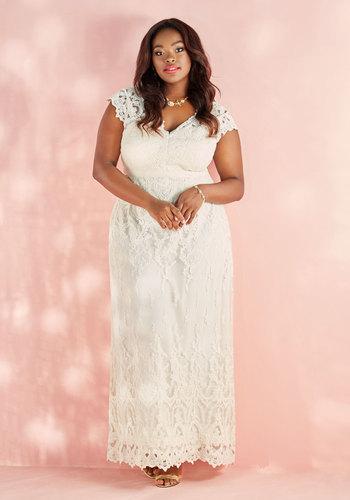 Vintage Inspired Wedding Dresses Memorable Matrimony Dress in Ivory $250.00 AT vintagedancer.com