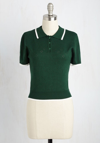 1920sStyleBlouses Strike a Polo Match Sweater $49.99 AT vintagedancer.com